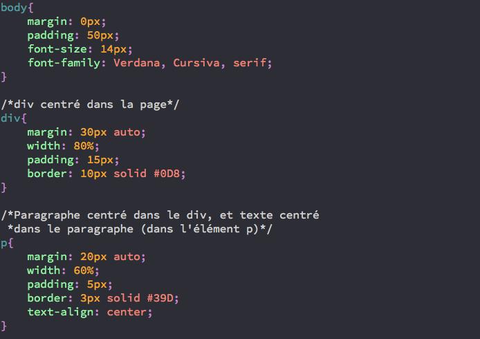 exemple de code CSS