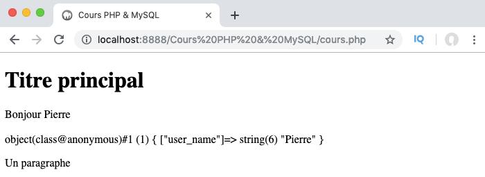 Création d'une classe anonyme en PHP