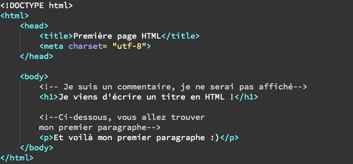 L'indentation et les commentaires en HTML