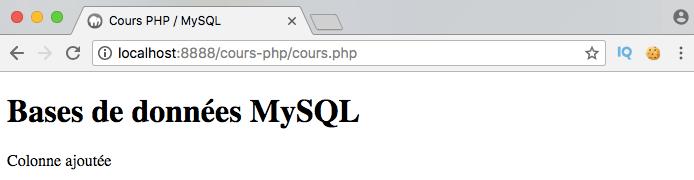 On ajoute une colonne à notre table SQL en PHP PDO
