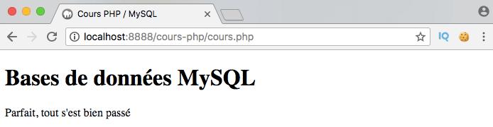 On ajoute des entrées dans notre table MySQL avec PDO en PHP