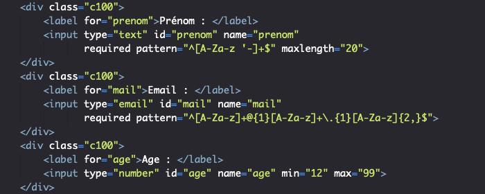 Utilisation des attributs HTML pour sécuriser les formulaires
