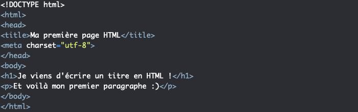 Un code HTML non indenté