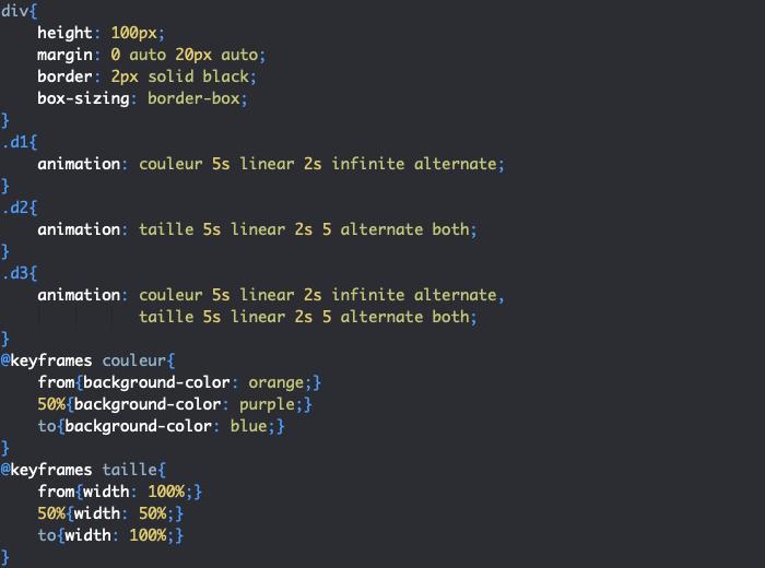 Utilisation de la propriété raccourcie animation en CSS pour créer une animation complète