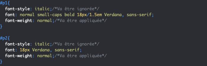 Les notations long hand et short hand en CSS et la priorité