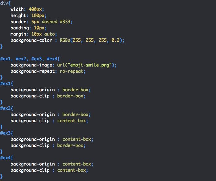 Utilisation de la propriété CSS background-clip