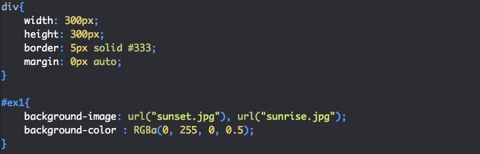 On utilise background-image et background-color en CSS