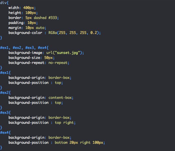 Utilisation de la propriété CSS background-position
