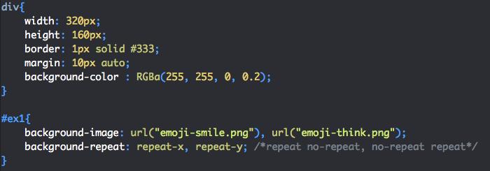 Définition de différents comportements de répétition avec background-repeat en CSS