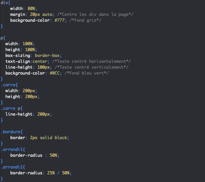 La propriété CSS border radius accepte des valeurs en pourcentage