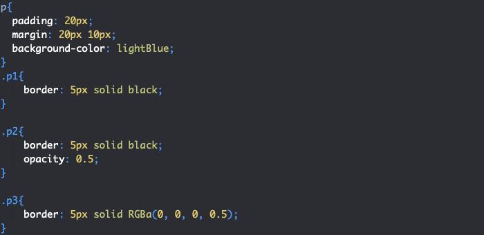 Création de bordures semi transparentes avec border en CSS