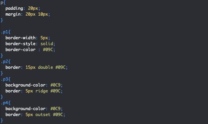 Création de bordures en CSS avec border