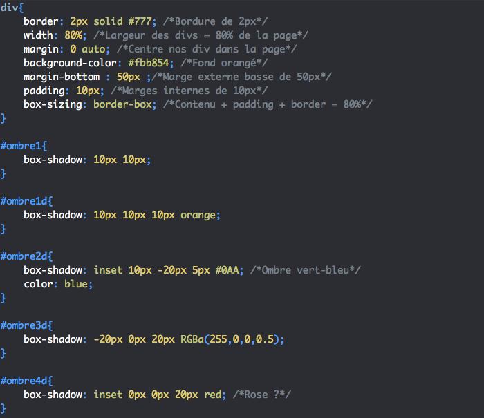 Box-shadow CSS nous permet de crée des ombres plus ou moins floues ou diffuses