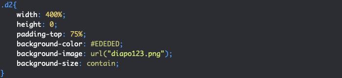 Création d'un cadre de diaporama responsive en CSS avec effet de défilement