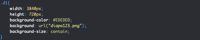 Création du cadre fixe de notre diaporama HTML et CSS avec défilement