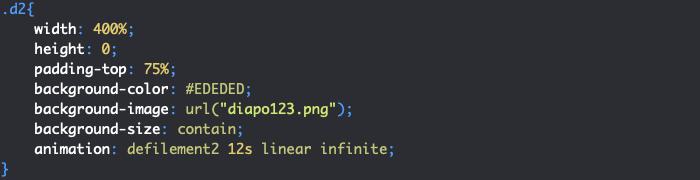 Styles CSS avec animation pour un diaporama HTML et CSS responsive avec effet de défilement
