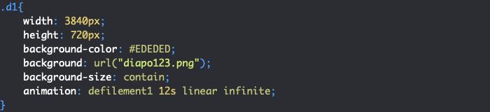Animation CSS diaporama boucle de défilement infini