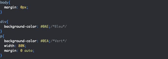Centrer un élément dans son parent avec margin en CSS