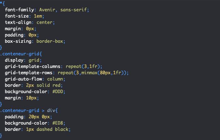 Utilisation de la propriété grid-auto-flow pour déterminer l'axe de positionnement des éléments d'une grille CSS