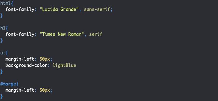Support CSS pour illustration de la notion d'héritage en CSS