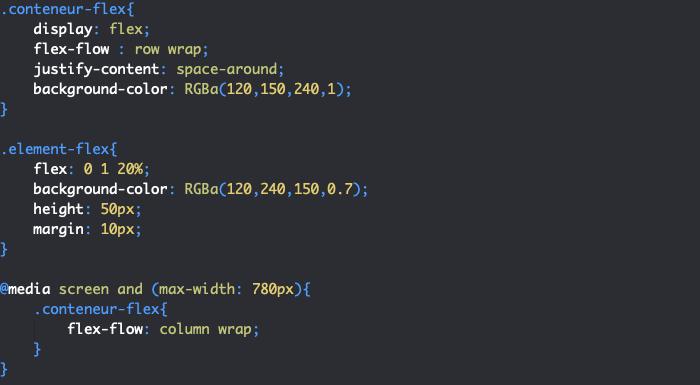 Premier exemple de responsive design CSS avec la règle media