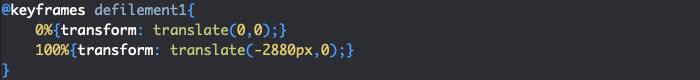 Utilisation de keyframes et animation pour créer un effet de diaporama en CSS avec défilement
