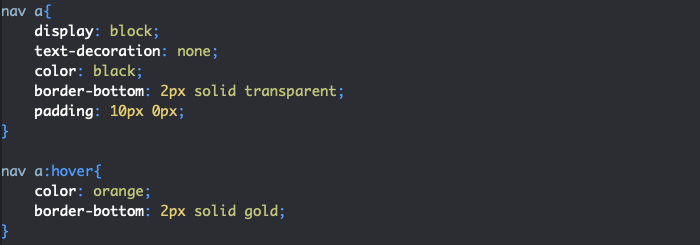 Ajout marge interne padding élément menu HTML et CSS