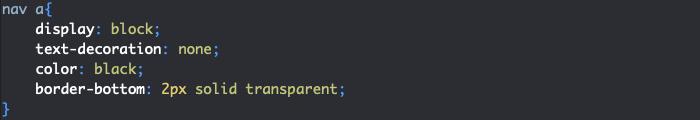 Ajout bordure éléments menu HTML et CSS