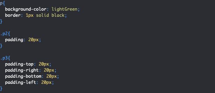 Ajout de marges internes en CSS avec padding