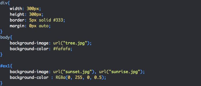 On applique un background-image et background-color en CSS