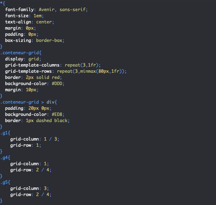 Controler le positionnement automatique des éléments de grille en CSS