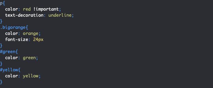 Règle CSS important