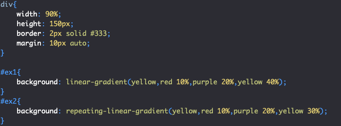 Utilisation de repeating-linear-gradient en CSS et transition fluide