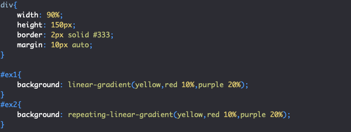 Utilisation de repeating-linear-gradient en CSS