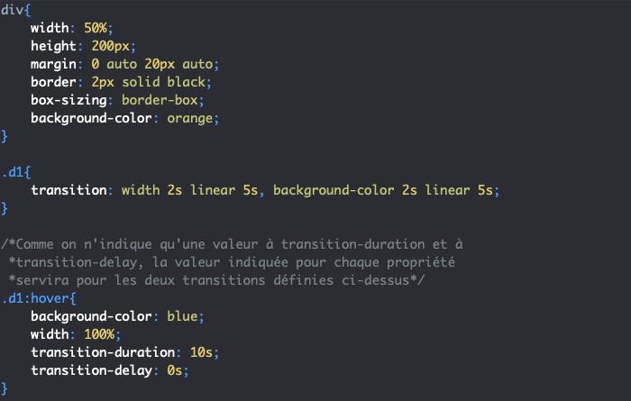 Création d'une transition de retour avec transition en CSS