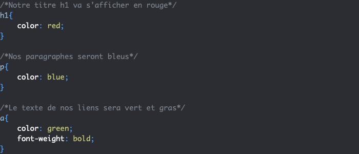 Sélecteurs élément simples CSS