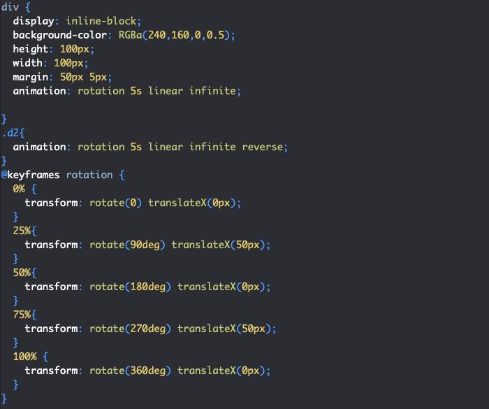 Créer des transformations animées en CSS avec transform et animation
