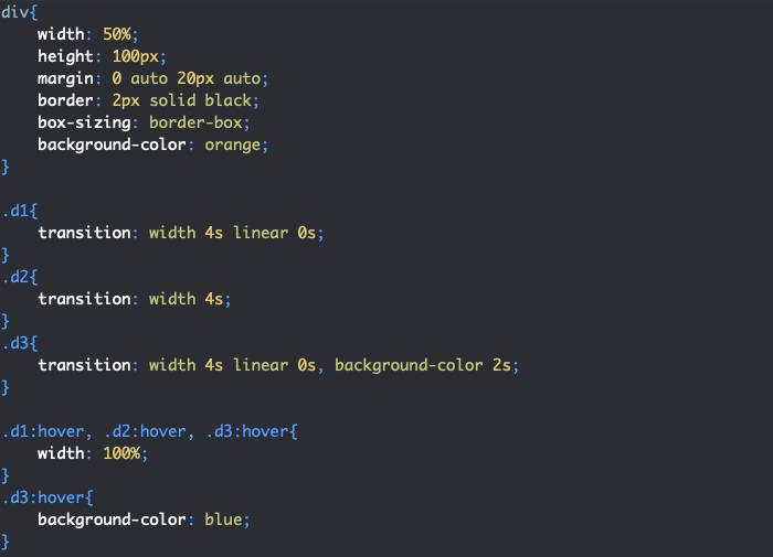 On utilise la propriété CSS raccourcie transition pour créer une transition complète