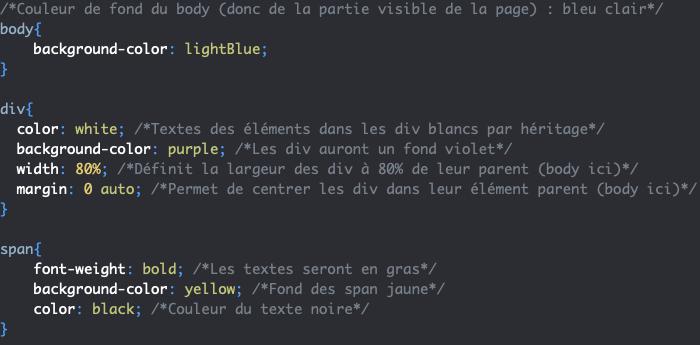 Ajout de styles à un élément span en CSS
