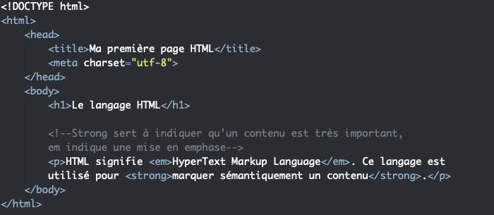 L'élément HTML em indique qu'un contenu est relativement important