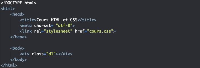 Support HTML pour exemple de création d'animations avec keyframes et valeurs intermédiaires en CSS