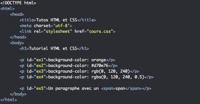 Couleur de fond des éléments HTML et héritage