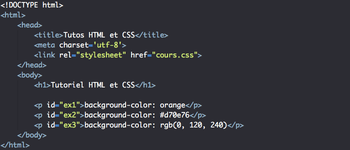 La couleur de fond des éléments HTML et background-color