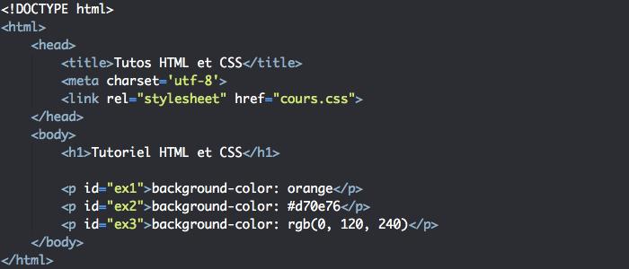 La couleur de fond des éléments HTML et background-color