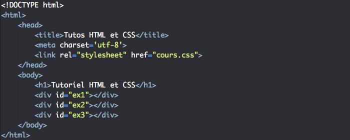 Support HTML pour l'utilisation de la propriété CSS background
