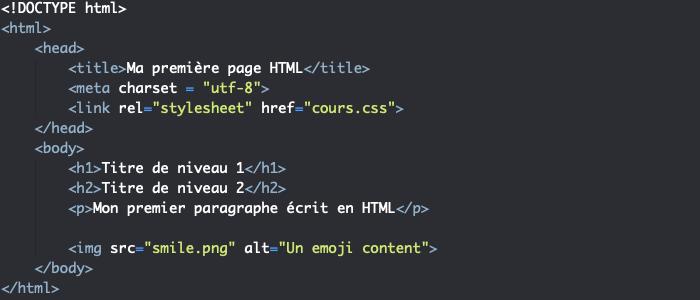 Le HTML est un langage de balisage