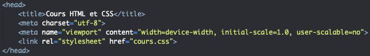 Utilisation du meta viewport pour modifier la page HTML en fonction de l'appareil utilisé