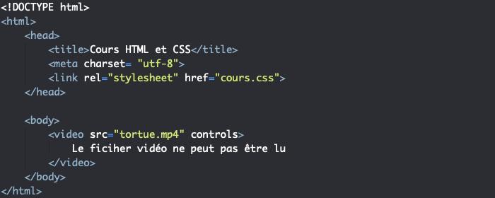 Utilisation d'un élément HTML video pour insérer de la vidéo dans nos pages