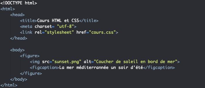 Utilisation des éléments figure et figcaption avec nos éléments img en HTML