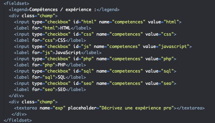 Ajout d'un élément textarea pour créer un champ de saisie long dans notre élément form en HTML